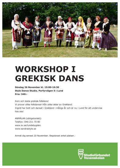 Grekisk Dans LUnd 26nov17
